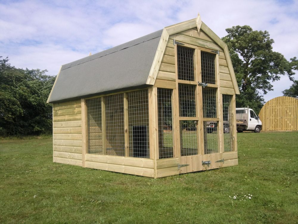 dutch barn dog kennel With dog barn kennels
