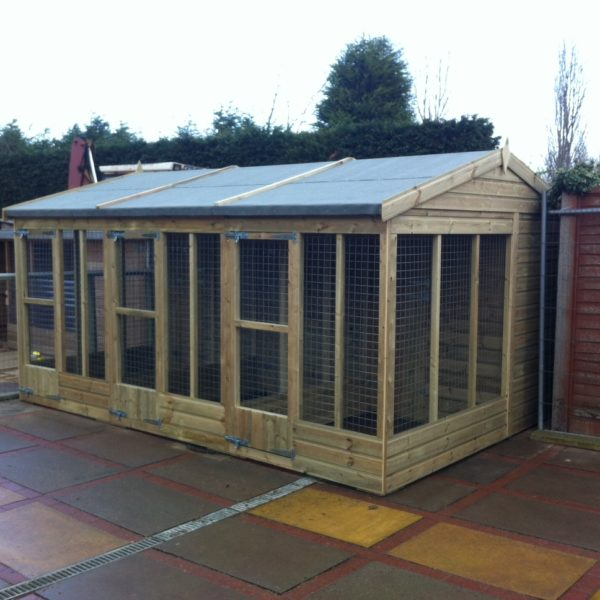 The Maples - Mesh Dog Kennel