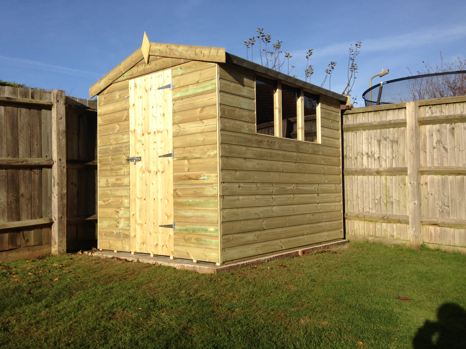 Apex Garden Shed - Side view